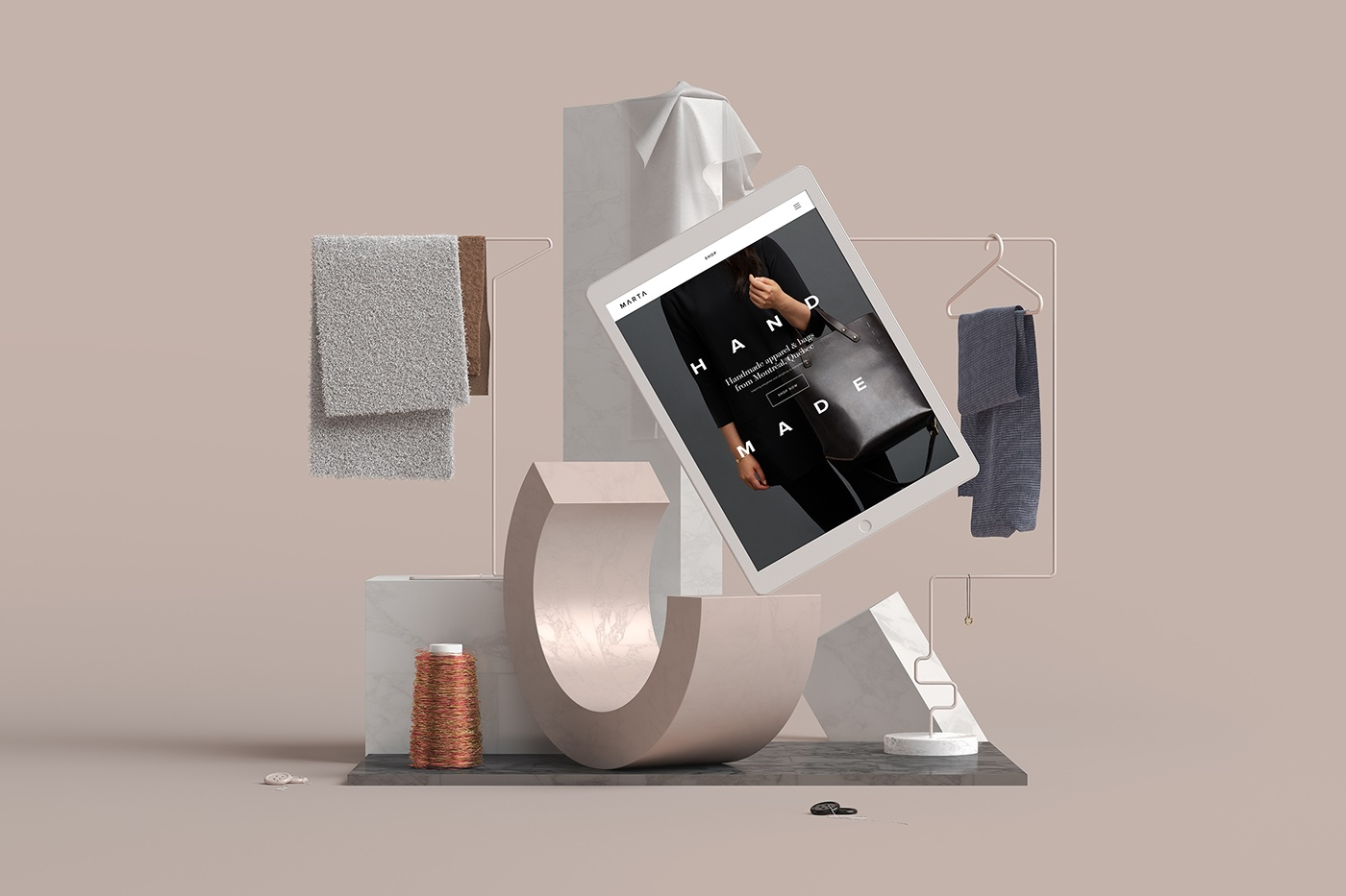 Projet design 3D Squarespace Stillife de MVSM